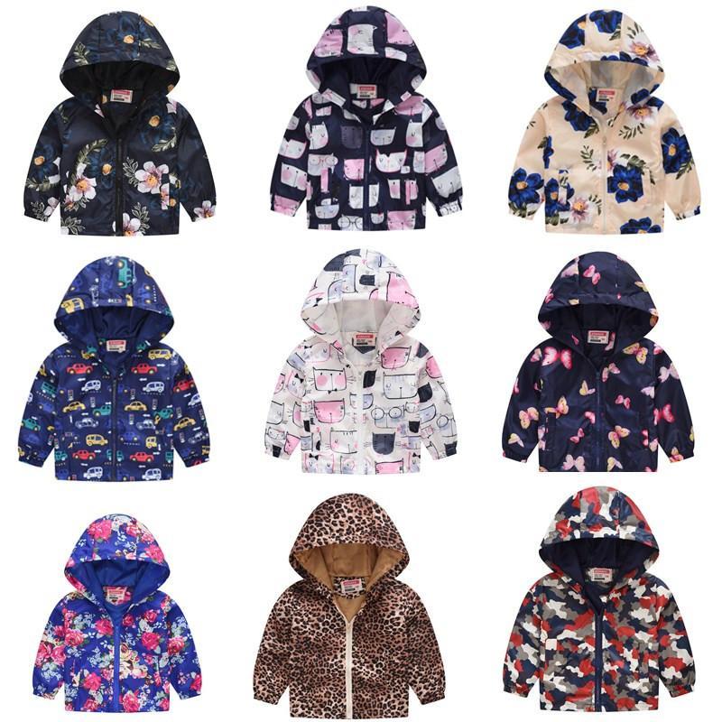 c15ea785ac969 Acheter Enfants Veste New Fashion Printed Printemps D été Enfants Manteaux  Garçons Filles Survêtement Active 2 7Y Bébé Vêtements Vêtements Coupe Vent  De ...