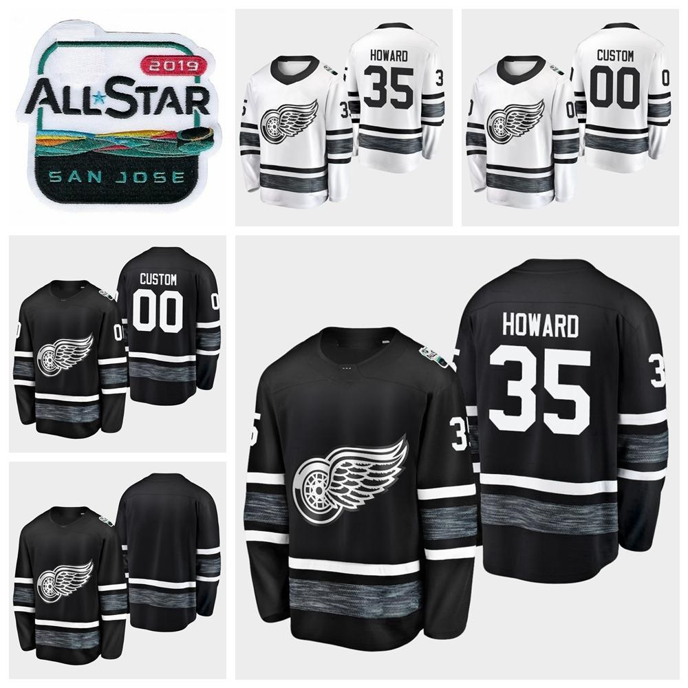 2019 All Star Game Jimmy Howard Customize Detroit Red Wings Hockey ... fe722cc16