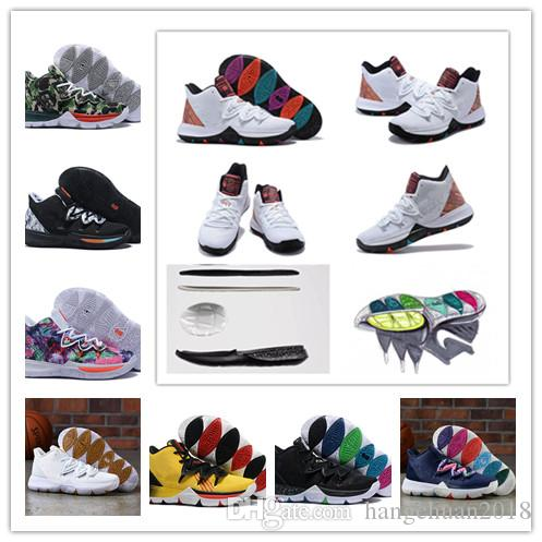 save off df1e6 2872a 2019 New Concepts X Kyrie5 V Irving 5 PE Neon Blends Ikhet Taco Mens  Basketball Shoes AAA Quality 5s Sports Sneakers Size 40 46 Running Shoes  Basketball .
