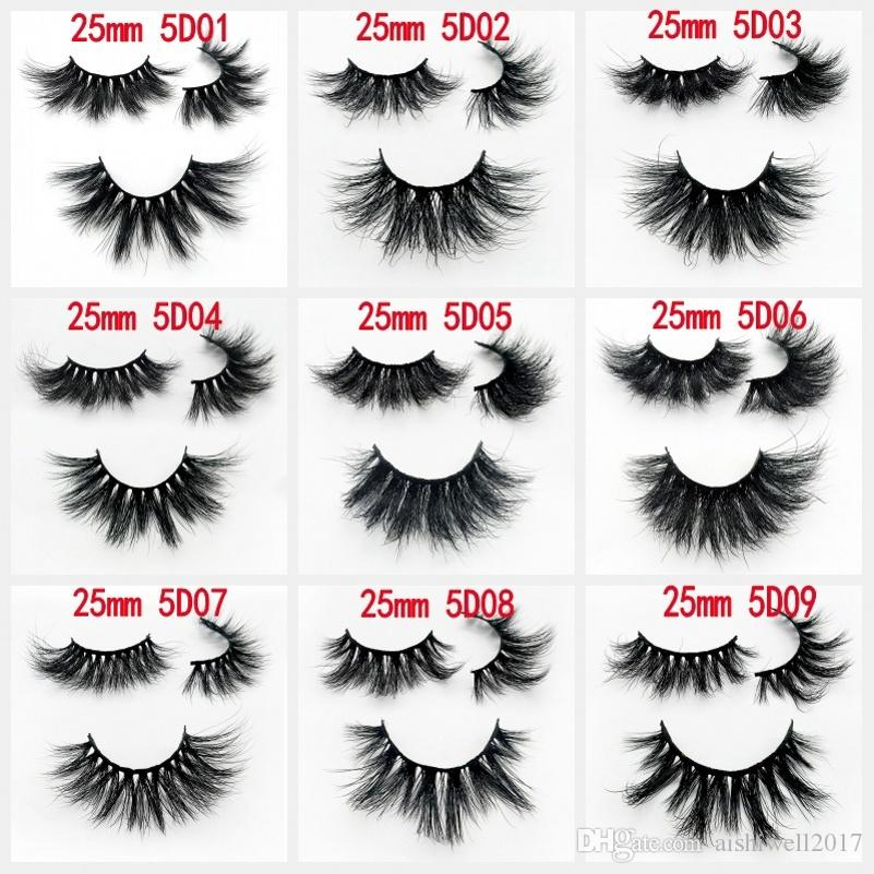 2073bf7aba9 25mm 3D Mink Lashes Handmade Full Strip Lashes Crisscross Dramatic ...