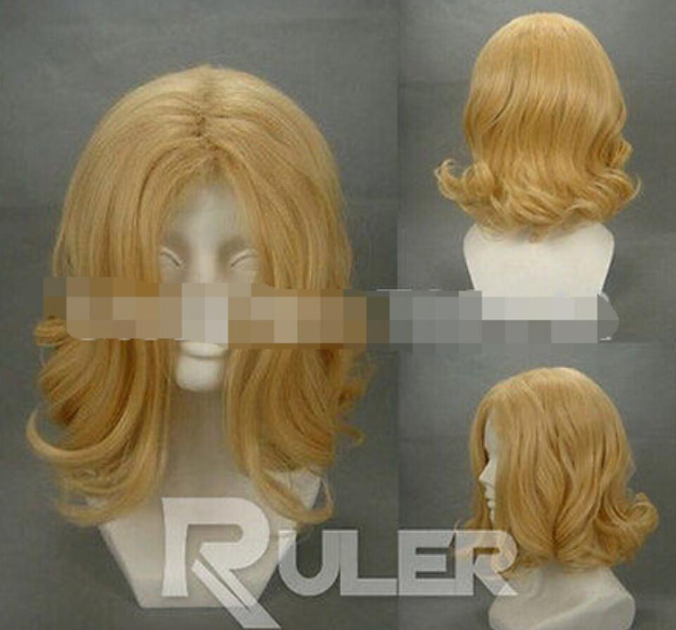 Wig Short Axis powers-France-Francis Bonnefoy Light Golden Anime Cosplay wig good Kanekalon hair Fine wigs Free Shipping