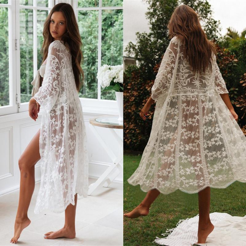 f636ebc4aa 2019 Swim Suit Cover Up Kaftan Outwear Beach Outlet Swimsuit Pareo Sarong  For Women Swinwear Pareos Cover Ups Tunic Sarongs Dress From Fujinplea, ...