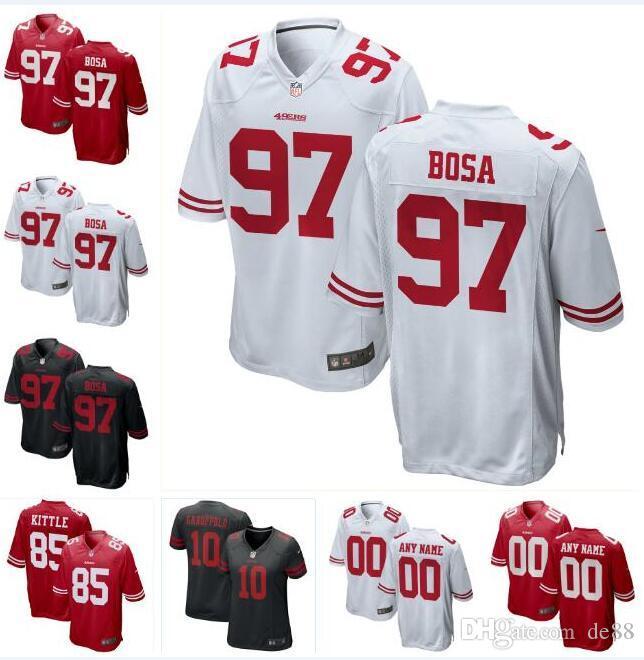quality design b8c33 487b2 2019 Nick Bosa George Kittle 49ers Jersey Jimmy Garoppolo Mitch Wishnowsky  Richard Sherman custom american football jerseys 4XL 5XL outdoors