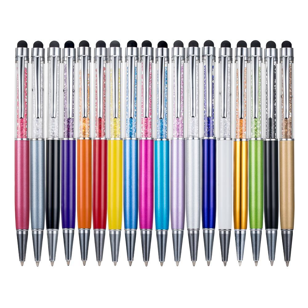 Metallic crystal pen office stationery school supplies pen handwriting capacitance diamond pencil touch screen ball point