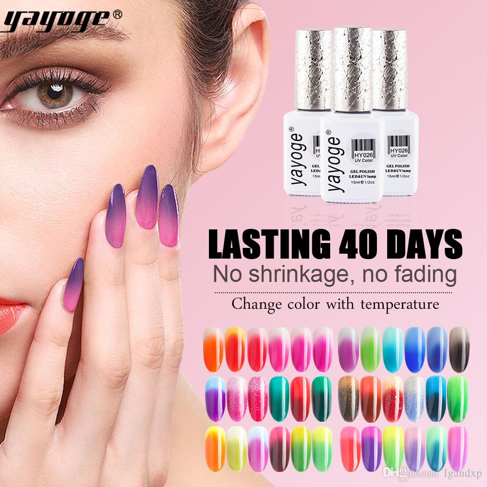 Yayoge Gel Nail Polish Temperature Color Changing 15ml Soak Off Led