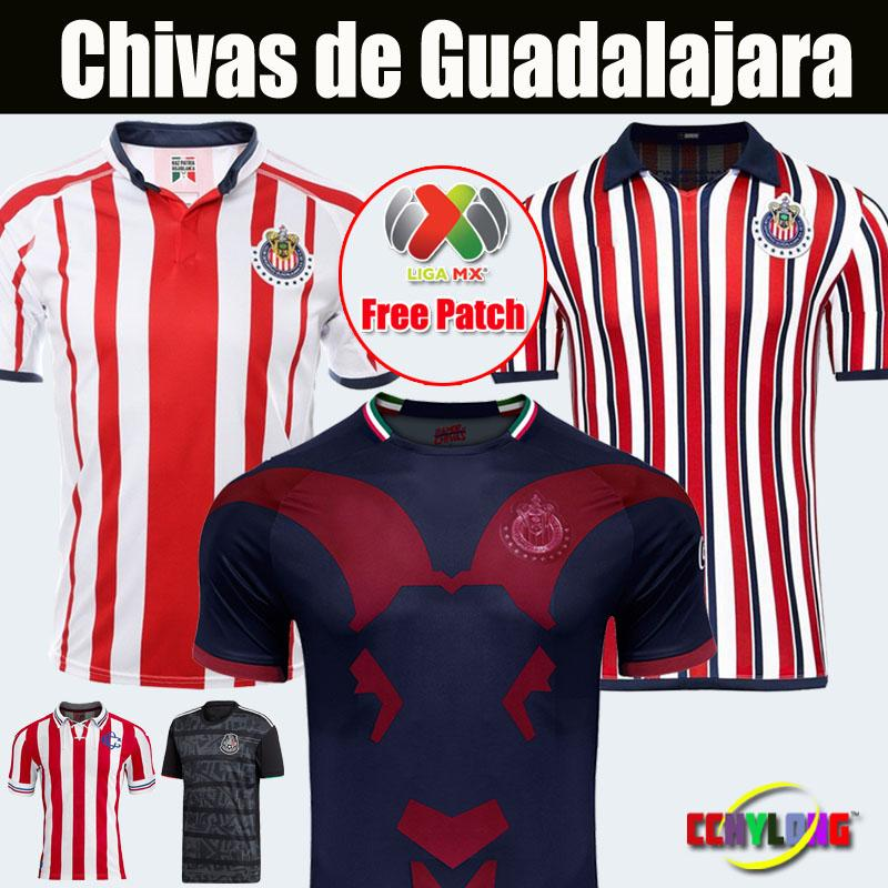 new product 80876 fbd1f 2018 2019 Mexico Club Chivas de Guadalajara Third Soccer Jersey Liga MX New  Arrived Gold Japan World Cup Jerseys A.PULIDO Football Shirts
