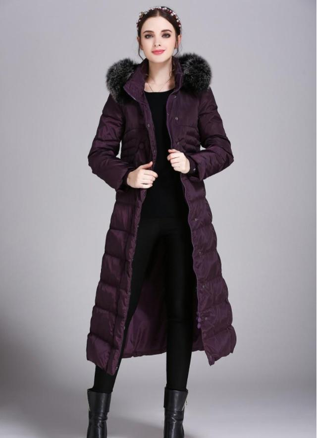8ad57a6524b20 2019 HOT Womens Winter Long Down Jacket Duck Down Parkas Real Fox Fur Hood  Ladies Warm Outwear Coat Hooded Big Size S 5XL Thicking Outdoor Jacket From  ...