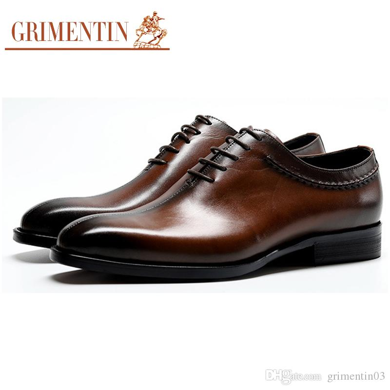 Low Price Hottest British Style Crocodile Leather Oxfords Black Pointed Toe Tope Quality Flats Shoes Mens Wedding Flats Men's Shoes