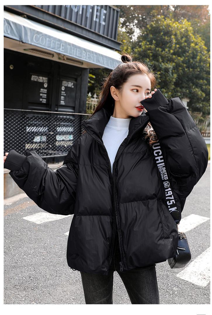 084ce4240 Women s 2018 winter clothing new Korean version loose-fitting thick  cotton-padded jacket fashion short down bread suit 90232