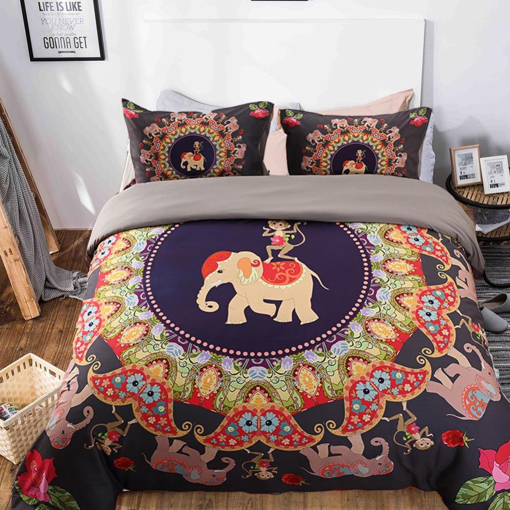 Novelty Holiday Gift Bohemian Mandala Elephant Monkey Pattern Home