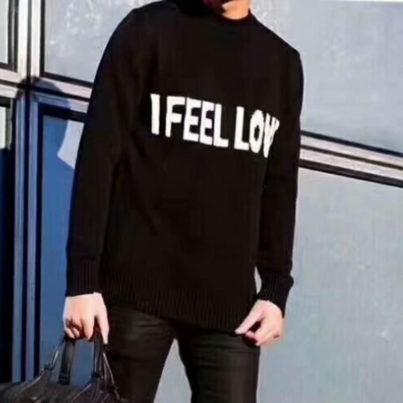 8c04d564fb7e10 18FW I FEEL LOVE Autumn Winter Crewneck Sweater Warm Knitting ...
