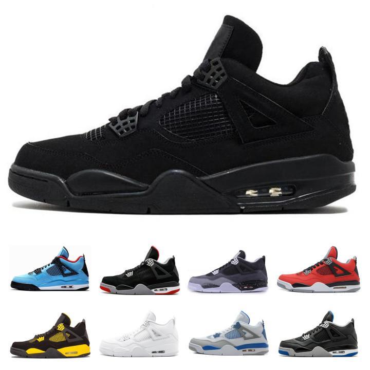 a19e49c7071 2019 New Retro Thunder 4s OG Mens Air Basketball Shoes NRG Raptors Pure  White Cement Black Cat Motosports Designer Sneakers Size 11 12 13 From  Renrenxinfu, ...