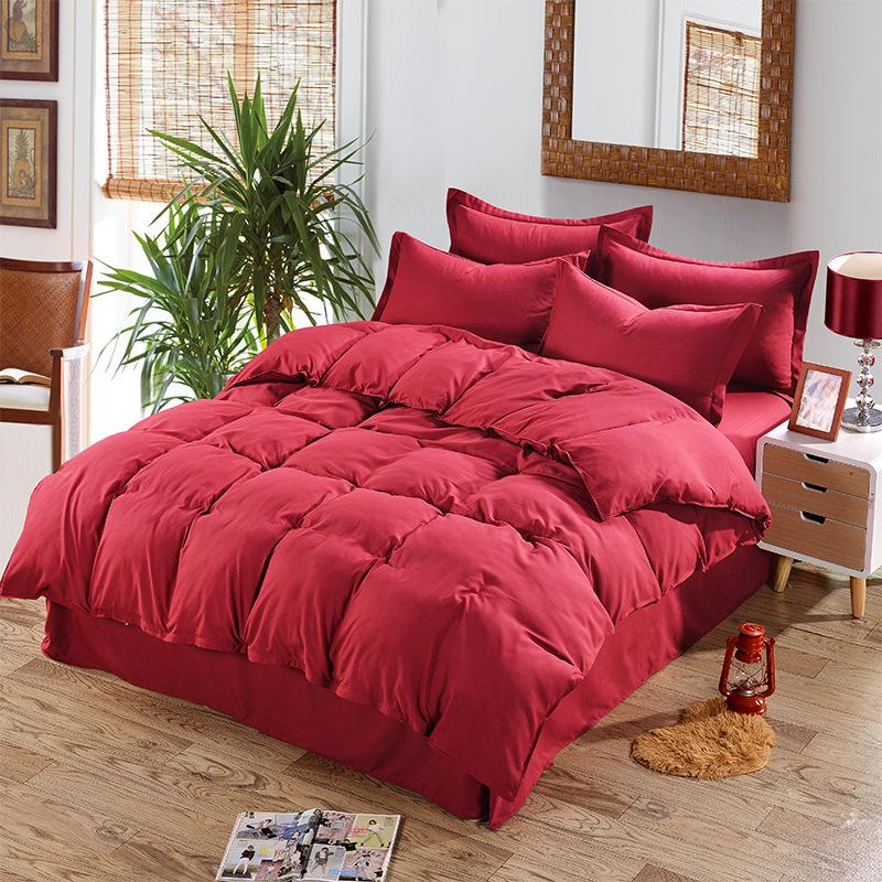 Solid Burgundy Color Duvet Cover Twin Full Queen Size For Single
