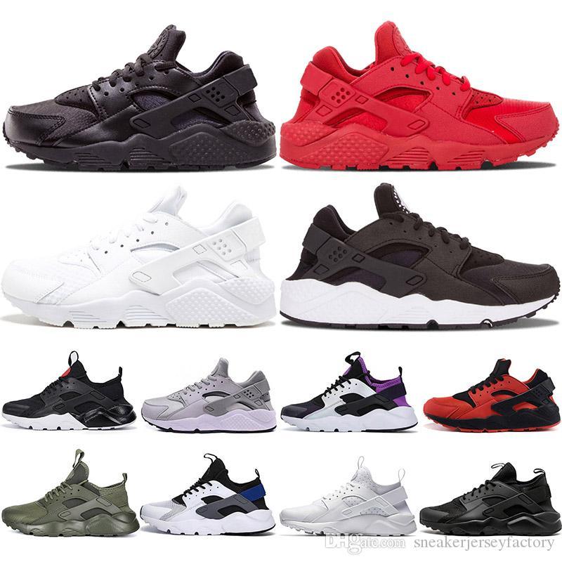 Triple Blanco Negro Huarache 4.0 1.0 Zapatos para correr Clásicos rojos hombres mujeres Huarache Zapatos Huaraches Entrenador diseñador deportivo