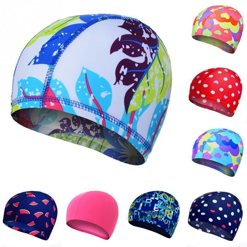 f83ff5c6dc5 2019 Waterproof Flexible Stretch Swimming Hat Ear Protect Long Hair  Protection Swim Caps Hat Cover For Adult Children Kids C19040302 From  Shen8402