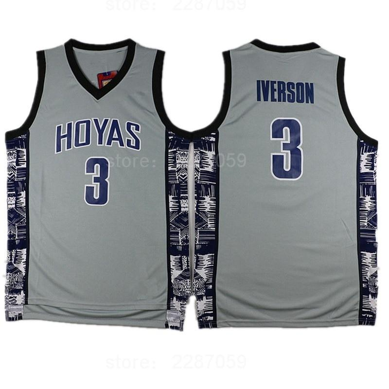 promo code cce20 76ec6 Men Sale Sports Georgetown Hoyas Basketball Jerseys Uniforms Stitched Blue  Black Gray