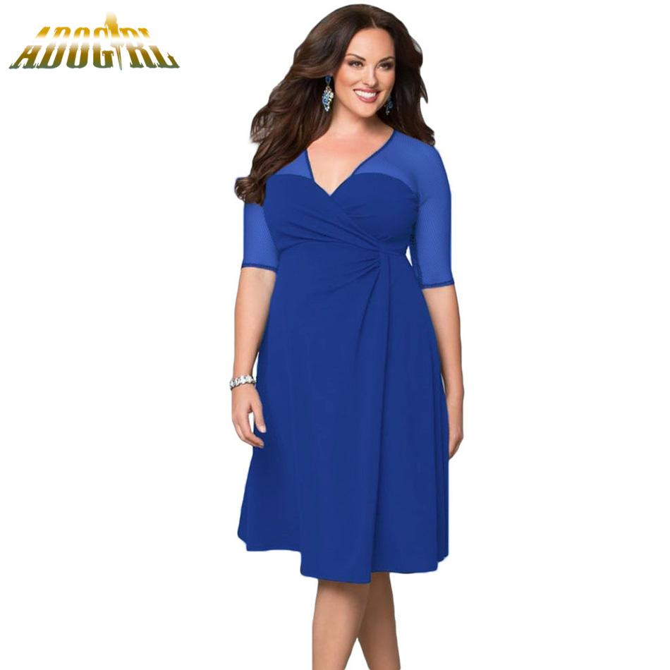 3a61dab3bae0 Sexy Party Solid Women Dress Black White Blue Summer V Neck Half Sleeve  Mesh Elegant Ladies Midi Dress See Though Backless Dress Black And Gold  Dresses For ...