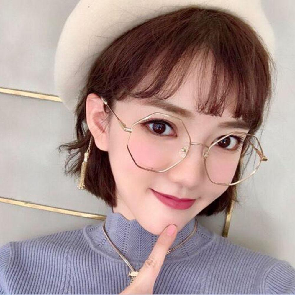 d1b9e1347 2019 Fashion Irregular Women Men Large Oversized Metal Frame Clear Lens  Round Circle Eye Glasses Optical Glasses Frame For Ladies From  Marquesechriss, ...