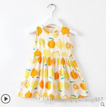 Designer Logo Baby Girl's Clothes Kids Cute Dresses Elegant Floral Printed Dress Sleeveless Skirt Luxury Heart Logo Baby Girl's Cl