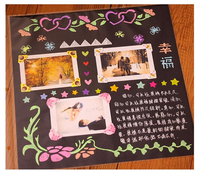 Foto di DIY Coppia mano romantici Scrapbook Baby Crescita Scrapbooking Wedding Stampa foto / incisione Nome regalo