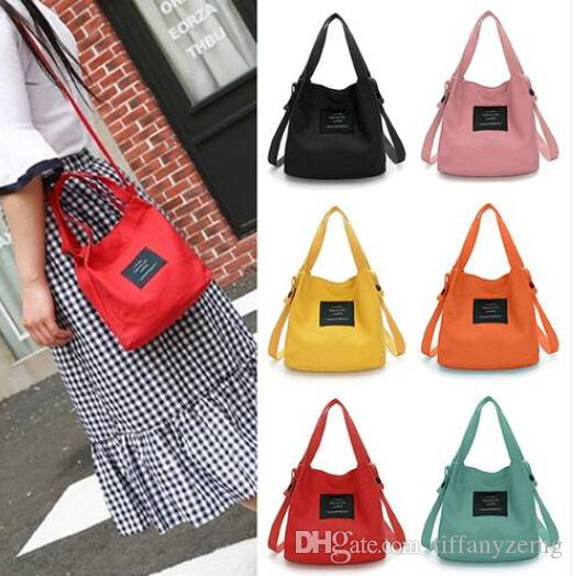 2019 new women's bag wholesale retro wind shoulder New Women's Canvas Black Handbag Shoulder Messenger Bag Satchel Tote Purse Bags