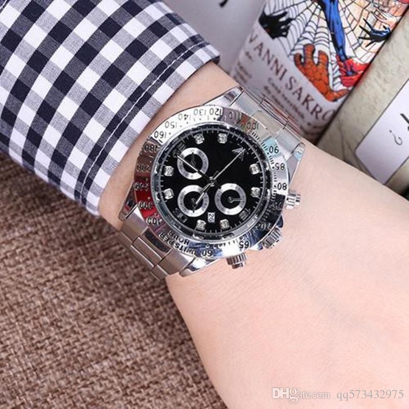 Calendario Moda 2020.2020 Relogio Masculino Relojes Para Hombre Moda De Lujo Con Calendario Bracklet Cierre Desplegable Maestro Hombres Y Mujeres Giftl Uxury Relojes Para