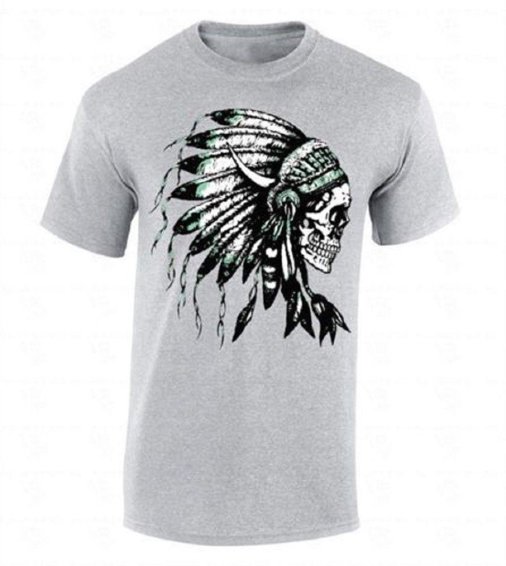 3e6c390b Headdress Skull T SHIRT Native American Feathers Indian Tribal Southwest  Shirt Funny Unisex Casual White T Shirts With Designs Cloth T Shirt From  Fantees, ...