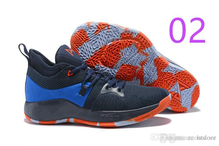 e1a37d71a97 Cheap 2019 New Sale Paul George 2 PG II Basketball Shoes Top PG2 2S Starry  Blue Orange All White Black Sports Sneakers Size 40-46 ZEOUTDOOR