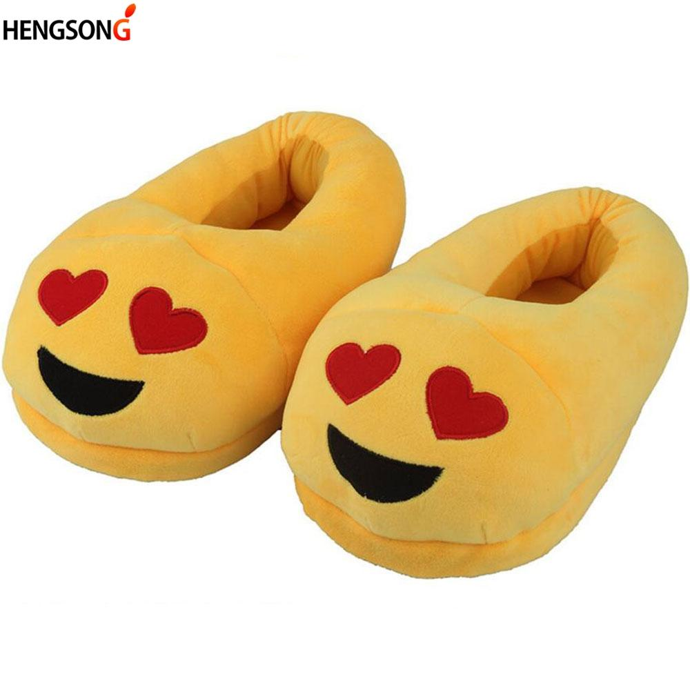 ecb14dc934b Funny Women Emoji Slippers 11 Type Expression Cartoon Plush Slipper Home Shoes  Female Slippers Winter House Shoes For Man Woman Comfortable Shoes Shoe  Shops ...