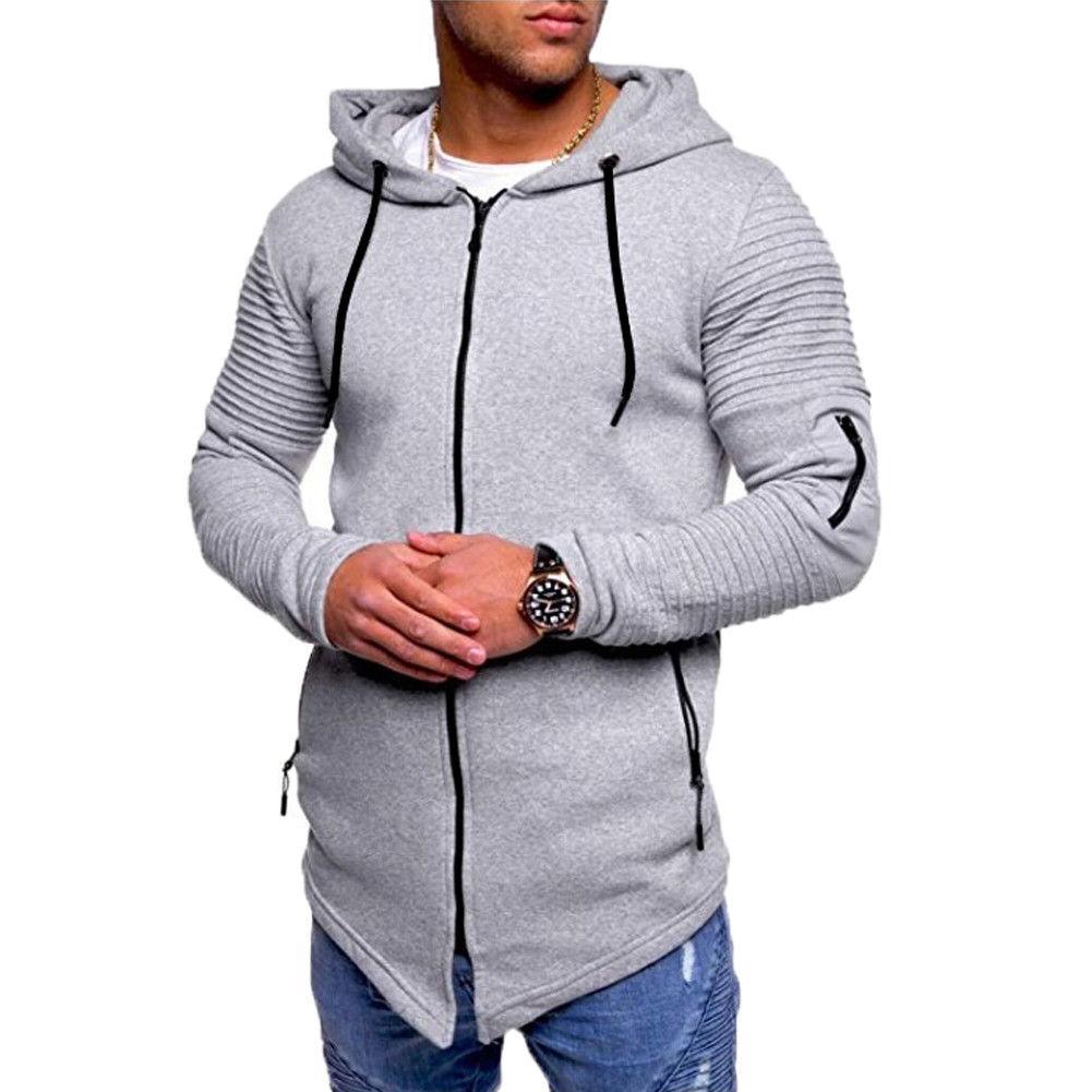 b8b995383 Warm Autumn Winter Handsome Mens Solid Full Zip Up Hoodie Classic Hooded  Zipper Jacket Cotton Unisex Black Gray Coats Buy Mens Coat Denim Jacket  Wool From ...