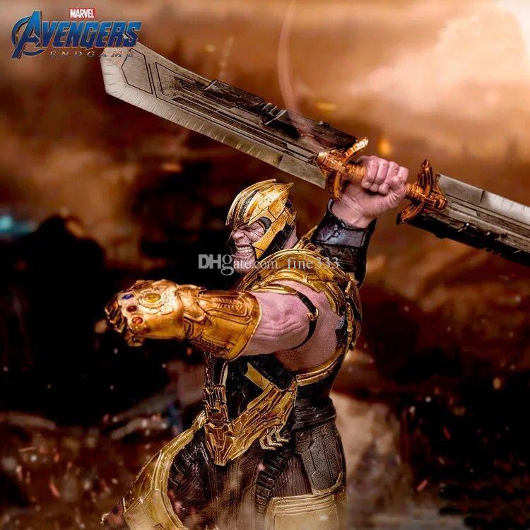Avengers Endgame Keychain 2019 New Avengers 4 Thanos weapon Double-edged Sword alloy Key Chain toys B