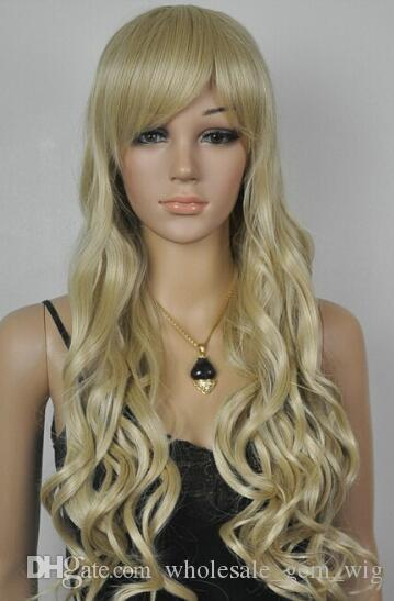 FREE SHIPPING+ + + New Cosplay Fashion Long Curly Wigs