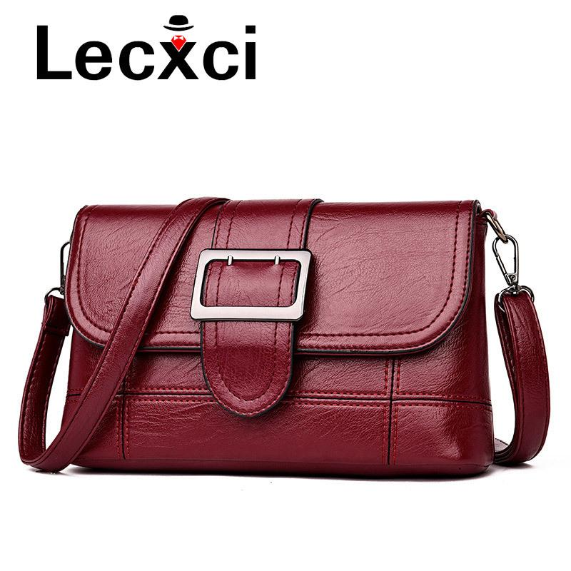 1c89d1e11b67 2019 Fashion Vintage Leather Handbags Women Clutches Ladies Party Purse  Famous Designer Crossbody Bags For Women Shoulder Bags Messenger Ladies  Purses ...