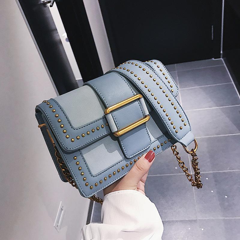 27b6a41aad British Fashion Simple Female Square Bag 2019 New High Quality Pu ...