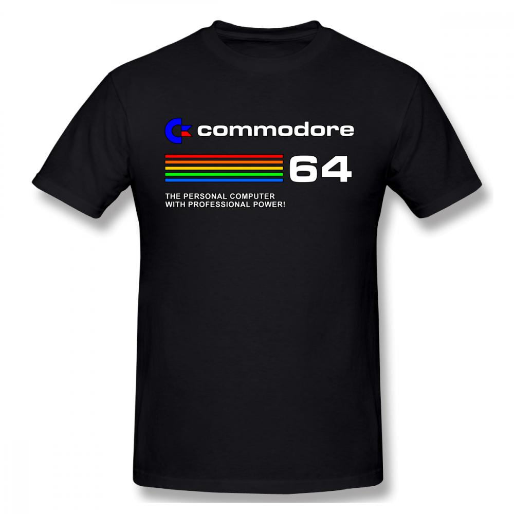 Commodore 64 Personal Computer T-shirt For Men Plus Size Custom Top
