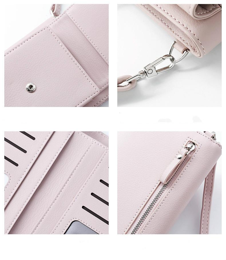 2019 New Women Casual Wallet Brand Cell Phone Wallet Big Card Holders Wallet Handbag Purse Clutch Messenger Shoulder Straps Bag