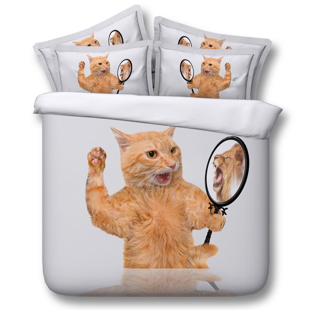 Großhandel Freies Verschiffen Tencel Baumwolle 3d Katze Spiegel