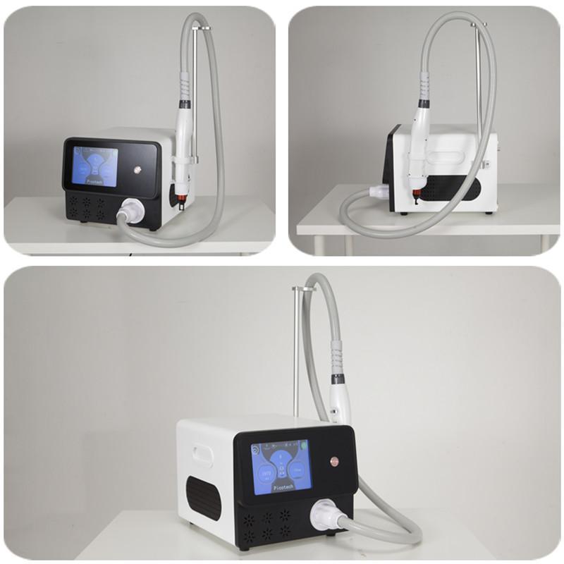 pele picosure portátil branqueamento máquina q-switch nd yag laser máquina 5 sondas para o envio gratuito de remoção de tatuagem máquina a laser