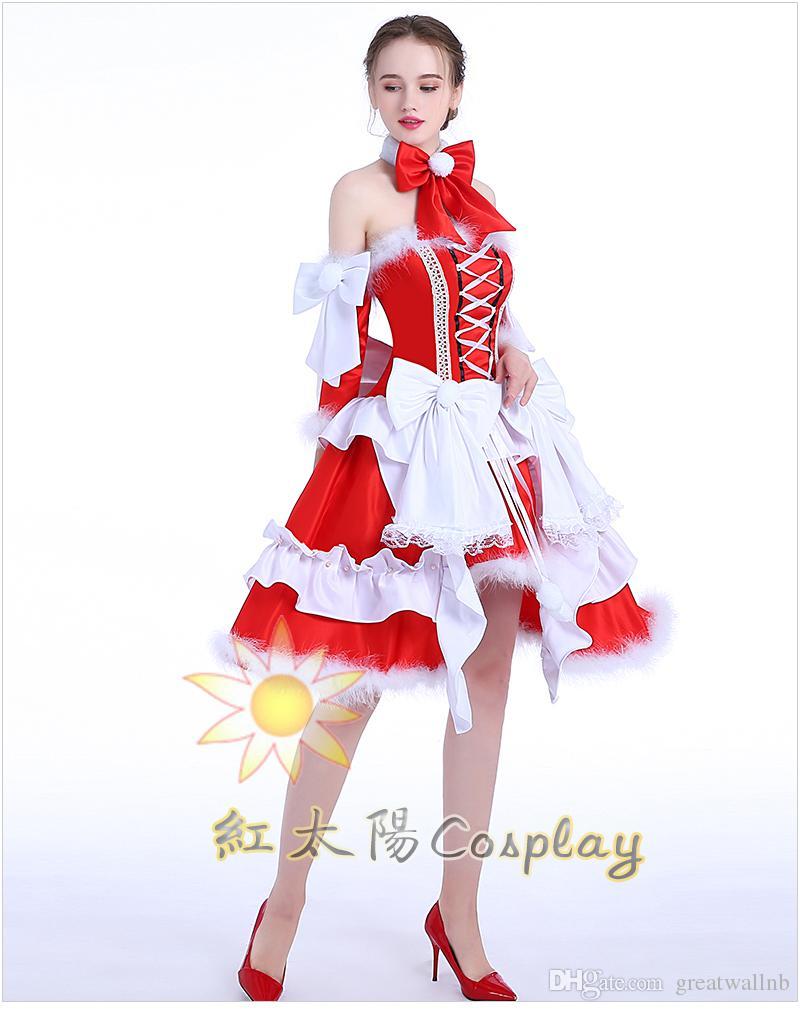 b4b543f6da09d Acquista Decorazione Di Lusso Piuma Rosso Natale Bowknot Lolita Vestito  Bordare   Cartone Animato   Carnevale   Danza Cosplay   Regalo Cos Lady    Can ...