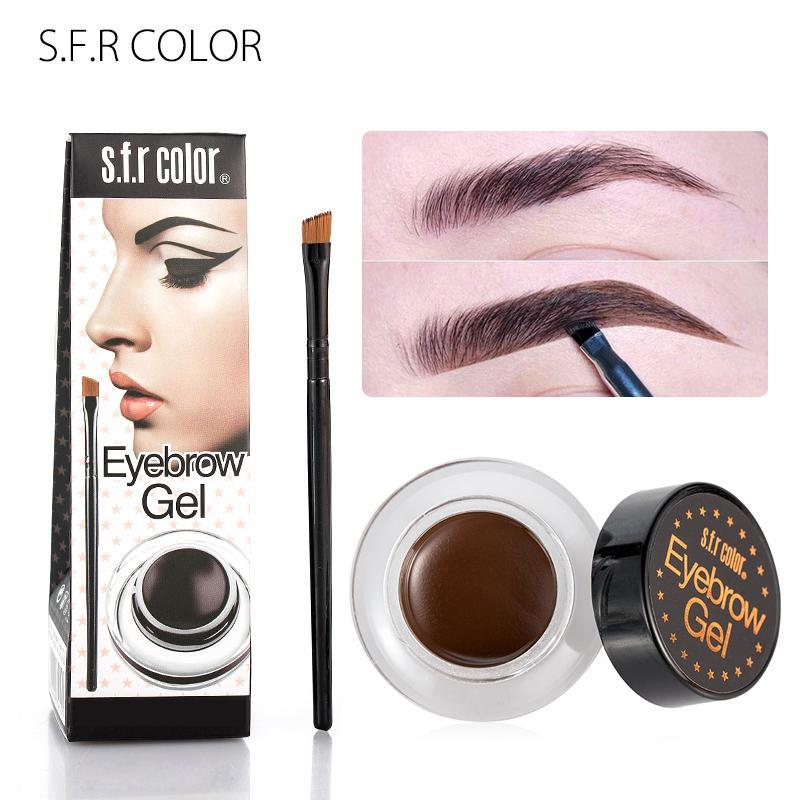 S F R color eyebrow gel single colors coffee brown pigment waterproof long  lasting makeup smooth eyebrow pomade cream HF134