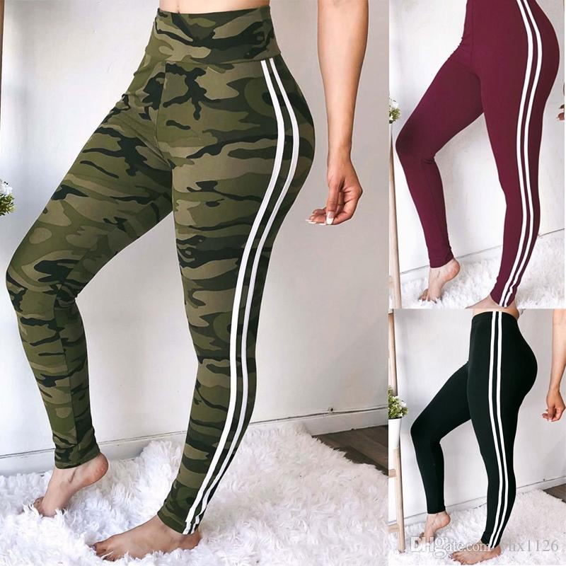 ea33df02c9afb 2019 2019 Black Women White Striped Yoga Pants Running Tights Sport Leggings  Push Up Training Pants Fitness Gym Leggins Workout #951410 From Yhx1126, ...