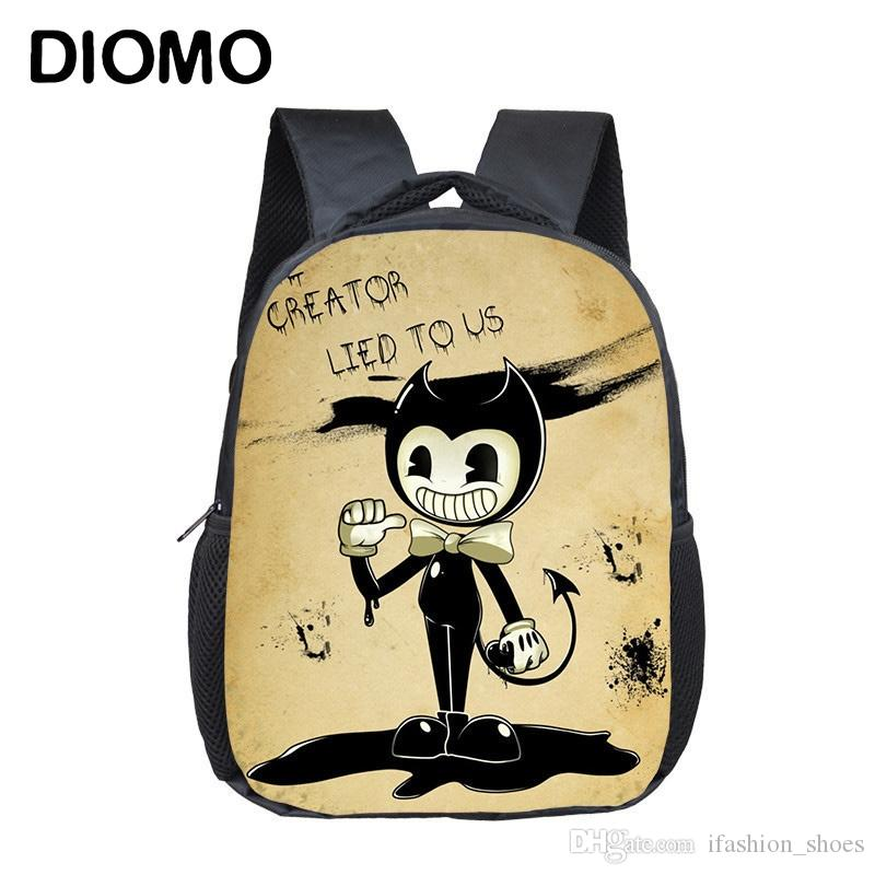772492a48a DIOMO Bendy And The Ink Machine School Bags Backpack For Children Girl Boy  Infant Cartoon Kids Bag Satchel Toddler Schoolbags  43191 Lunch Bags For  Kids ...