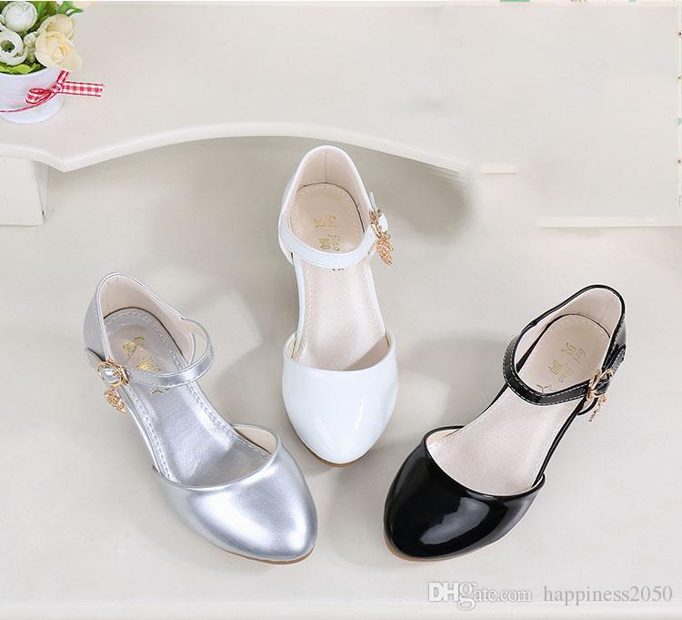 7042e5e18d Lovely Black White Silver Flower Girls Shoes Kids Shoes Girl s Wedding  Shoes Kids Accessories SIZE 26-37 S321031