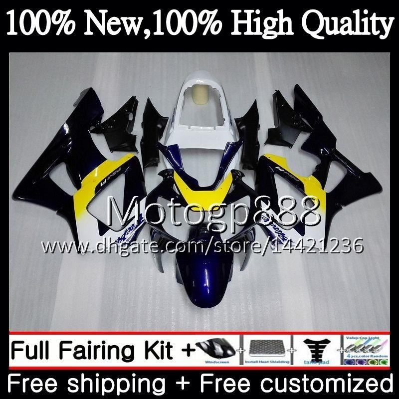 Body For HONDA CBR900 RR CBR 929RR CBR 900RR CBR929RR 00 01 54PG15 Stock blue CBR 929 RR CBR900RR CBR929 RR 2000 2001 Fairing Bodywork