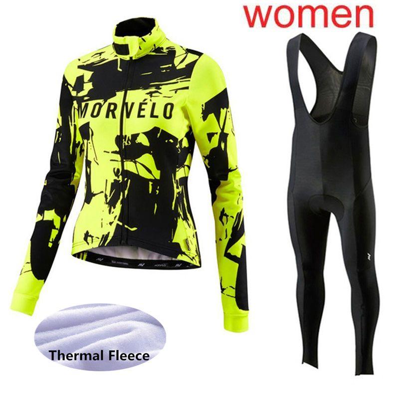 2d208cbcb Morvelo Cycling Jersey Women Sets 2019 Winter Thermal Fleece Bike Clothing  Bib Pants Set Ropa Ciclismo Invierno Bicycle Jersey Y013021 Cycling Rain  Jacket ...