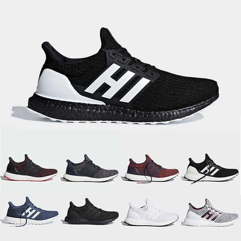the latest 4974c aa9ca Orca Noble Red Ultra Boost 4.0 Running Shoes Candy CaneTriple Black White  Burgundy CNY Primeknit Ultraboost Sports Trainer Men Women Sneake Brown  Shoes ...