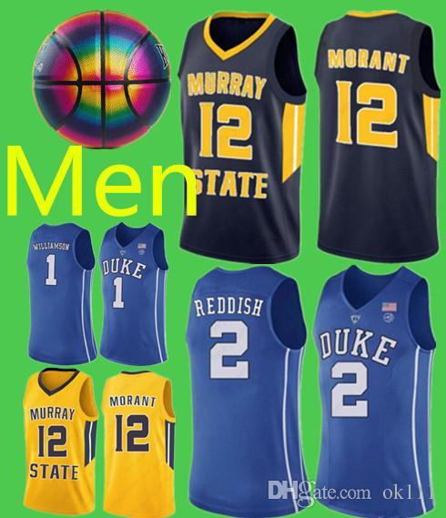 cf564ba3f59 2019 NCAA 1 Zion Williamson Irving Duke Blue Devils College Basketball  Jerseys 2 Cameron 5 RJ Barrett Reddis 12 Ja Morant Murray State College From  Ok111