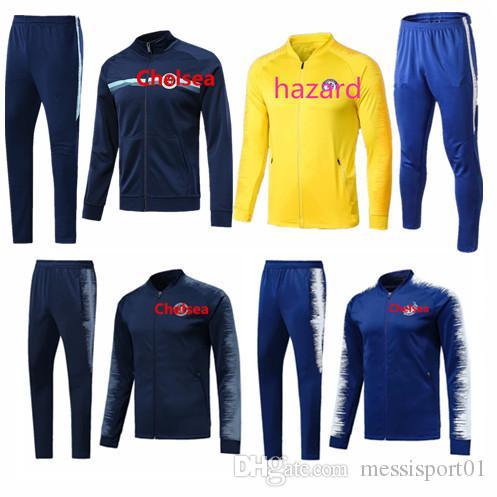 2019 HAZARD Jacket Veste Suit Kits Soccer Tracksuit 2019 PEDRO ... a6ee4dacc