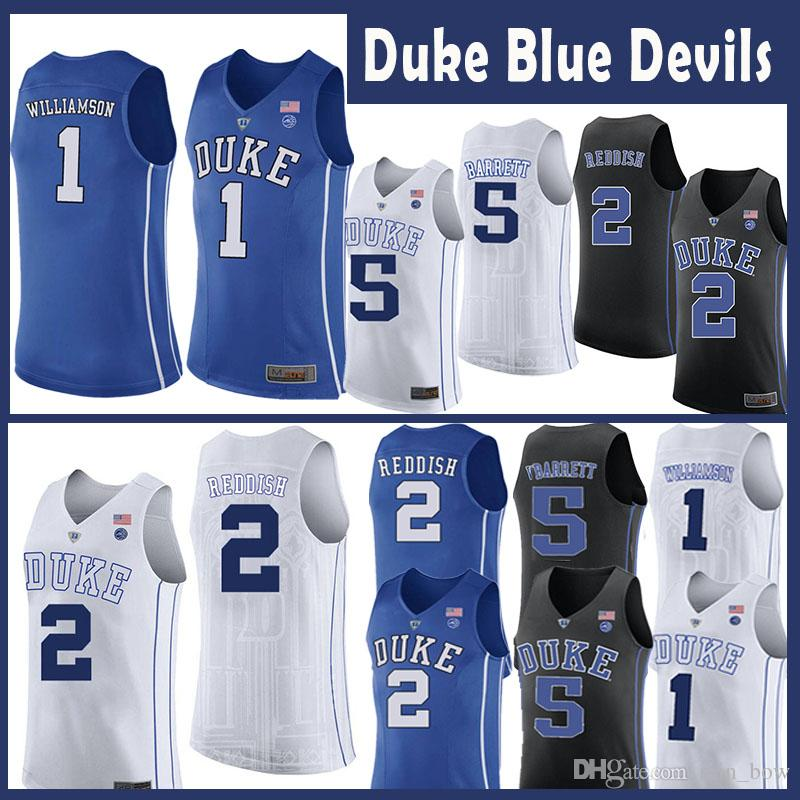 4061dce95c0 1 Stitched Duke Blue Devils Mens College Basketball Jersey Sports & Outdoors  Majestic Athletic Zion Williamson no