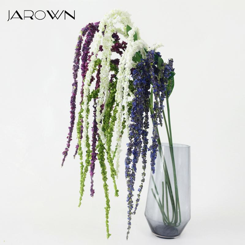 Artificial Decorations New Hi-q Artificial Lantern Flower Rattan Wisteria Diy Wedding Flower Vine Hanging Christmas Party Flower Wall Decor Wisteria Festive & Party Supplies